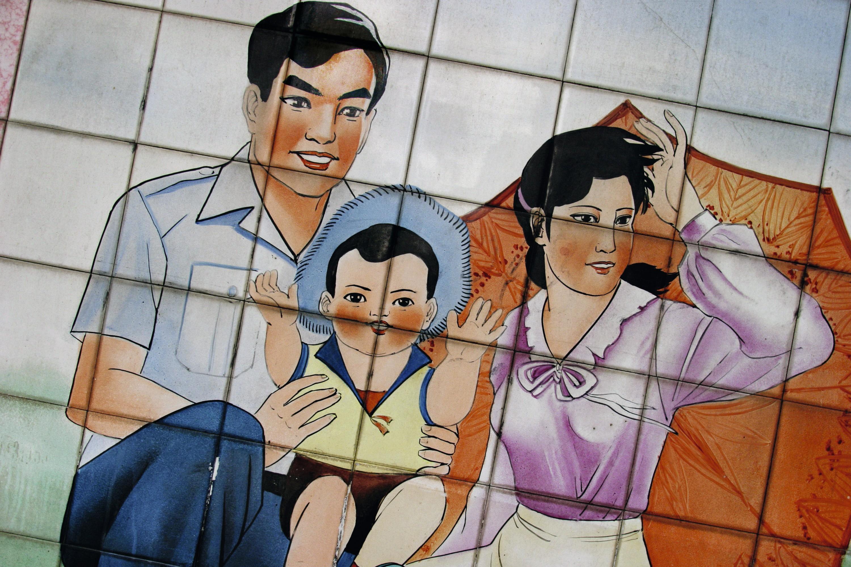 Fresque murale à Guangzhou en Chine