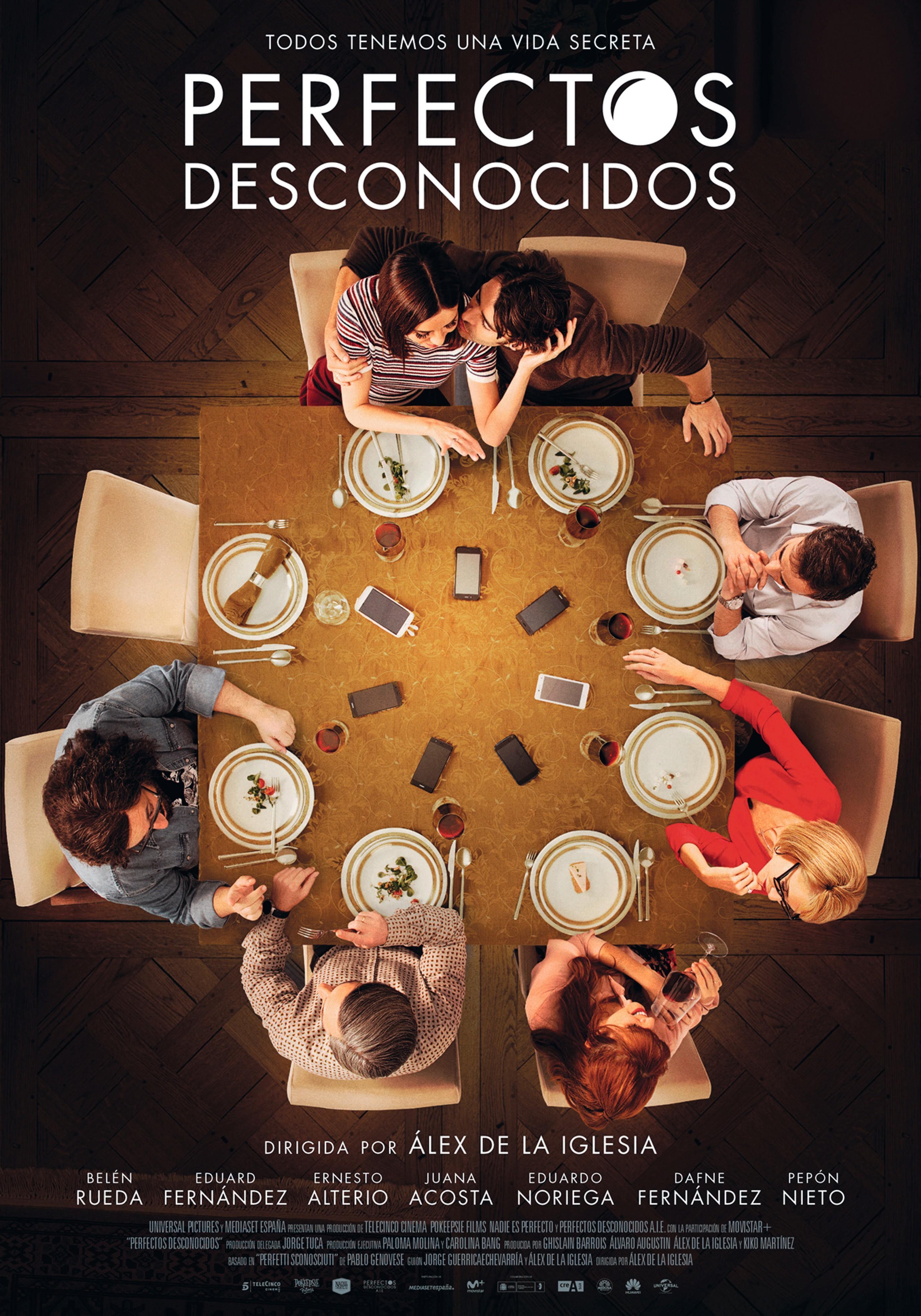 Cartel de Perfectos desconocidos de Álex de la Iglesia, 2017.