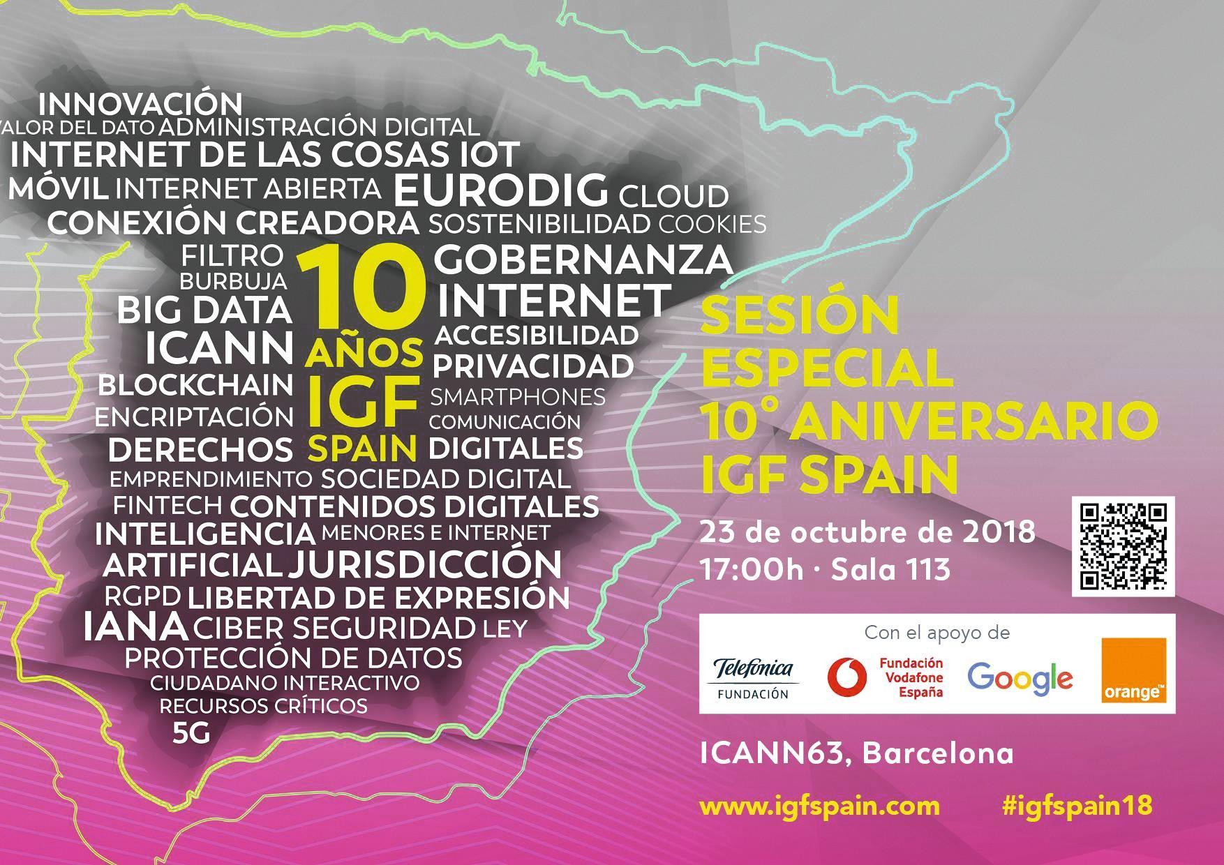 Cartel del Foro de la Gobernanza de Internet en España, IGF Spain, 2018.