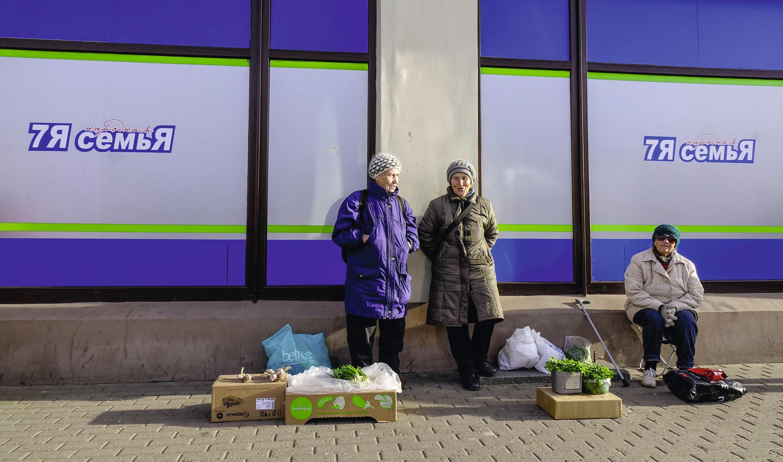 Vendeuses ambulantes à Moscou