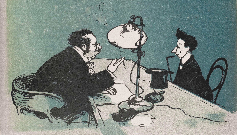 Poulbot, EMBAUCHAGE, « N'ayez ni idées, ni style… Cela dérange nos abonnés. », série « Journalistes »
