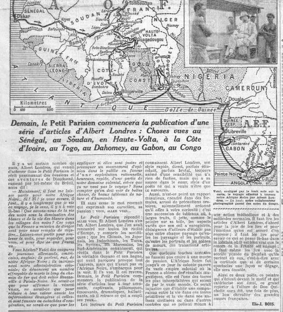 Détail de la une du Petit Parisien du 11 octobre 1928.