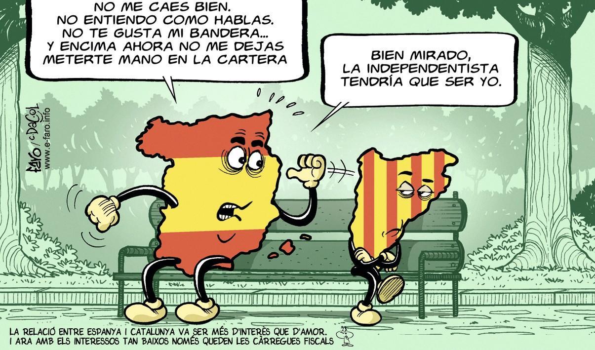 Andrés Faro Lalanne, La eterna mala relación entre España y Cataluña