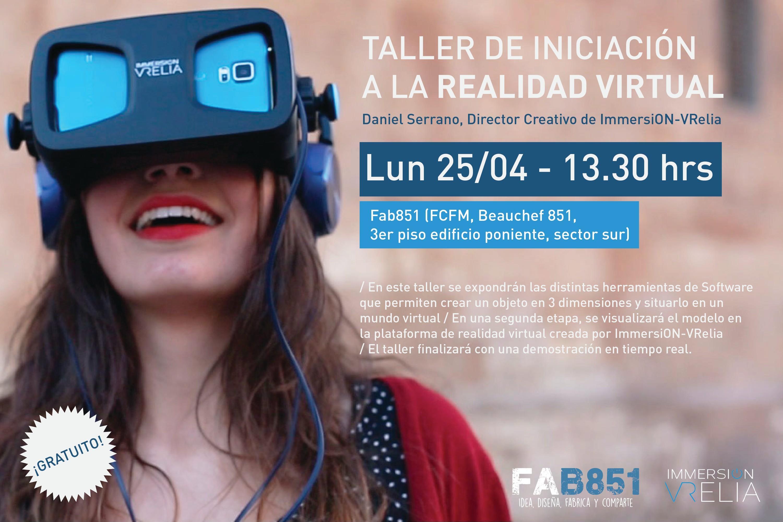Taller de iniciación a la realidad virtual organizado por la Facultad de Ciencias Físicas y Matemáticas de Chile
