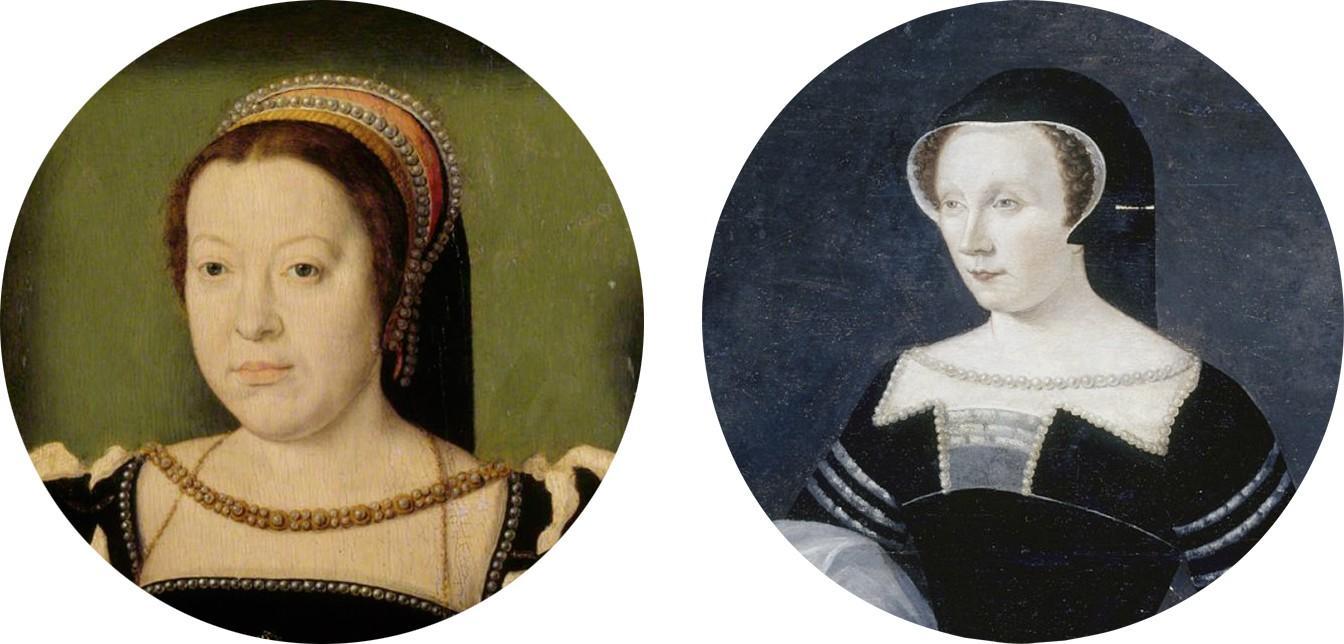 Les dames de Chenonceau : Catherine de Médicis (1519‑1599), à gauche, et Diane de Poitiers (1500‑1566), à droite