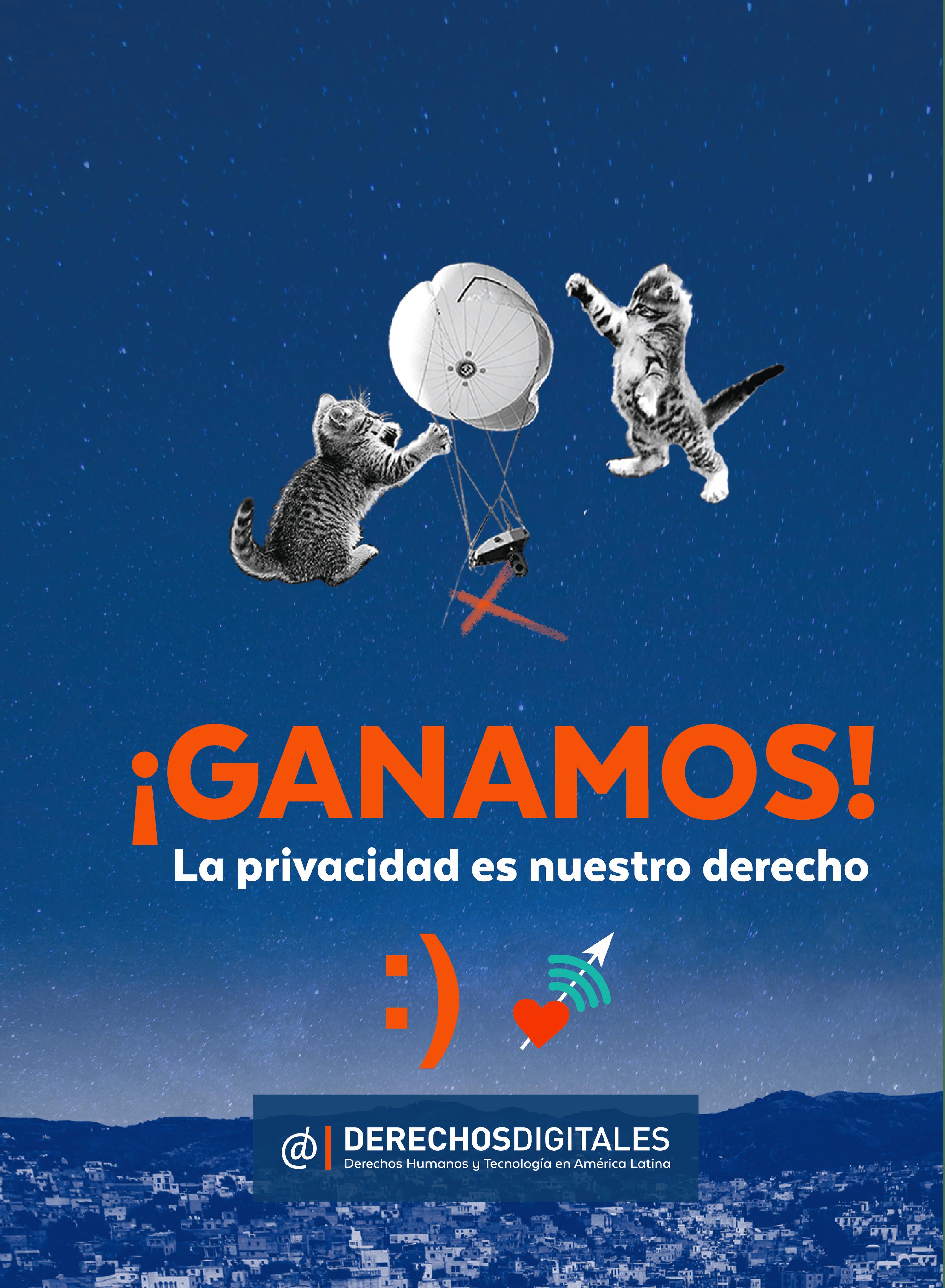Cartel de la campaña de la organización chilena Derechos Digitales, 07/03/2016.