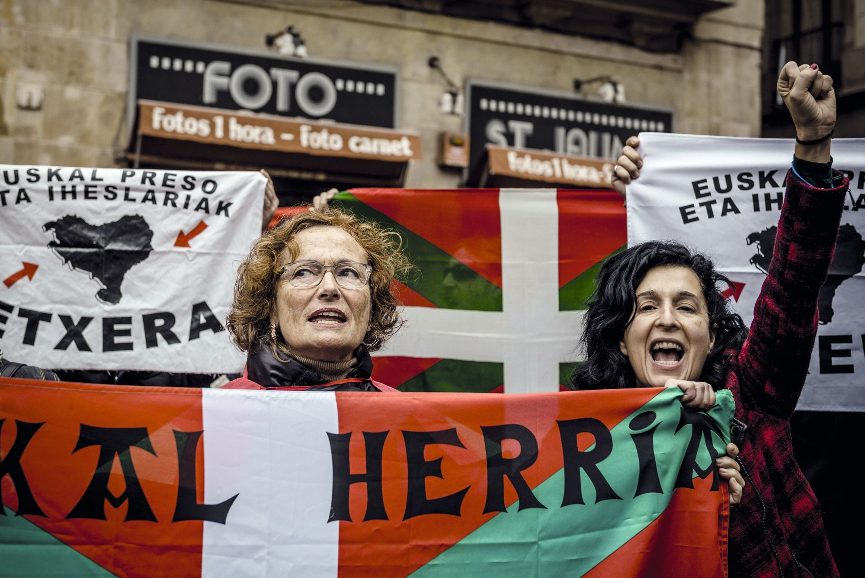Partidarias de la independencia del País Vasco, 08/11/2014.