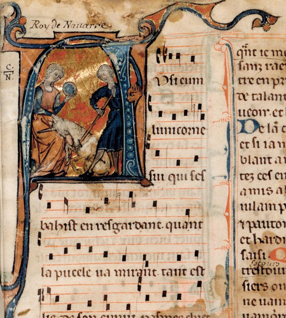 Manuscrit (détail) dit Chansonnier Cangé