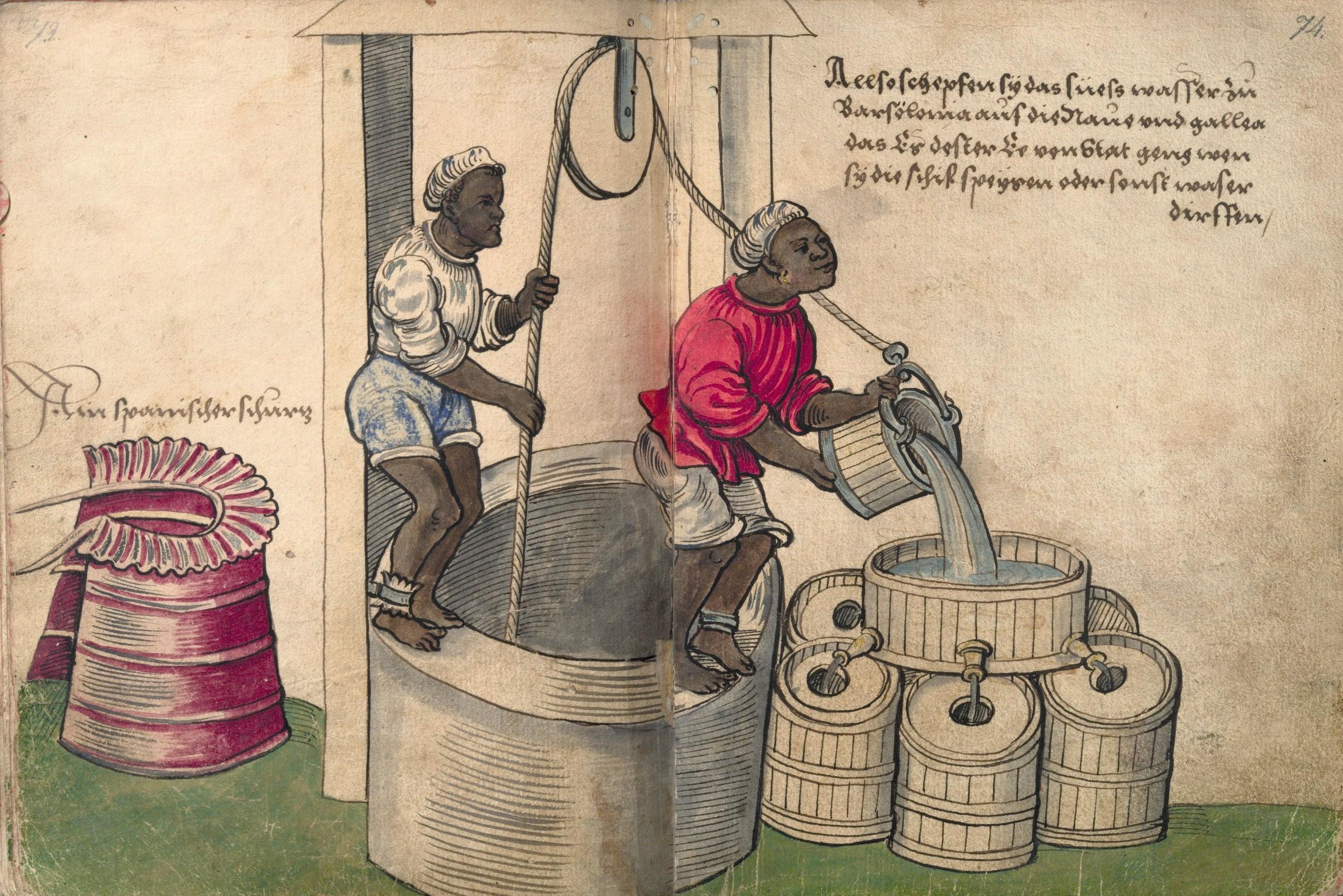 Christoph Weiditz, Esclaves au travail, v. 1530