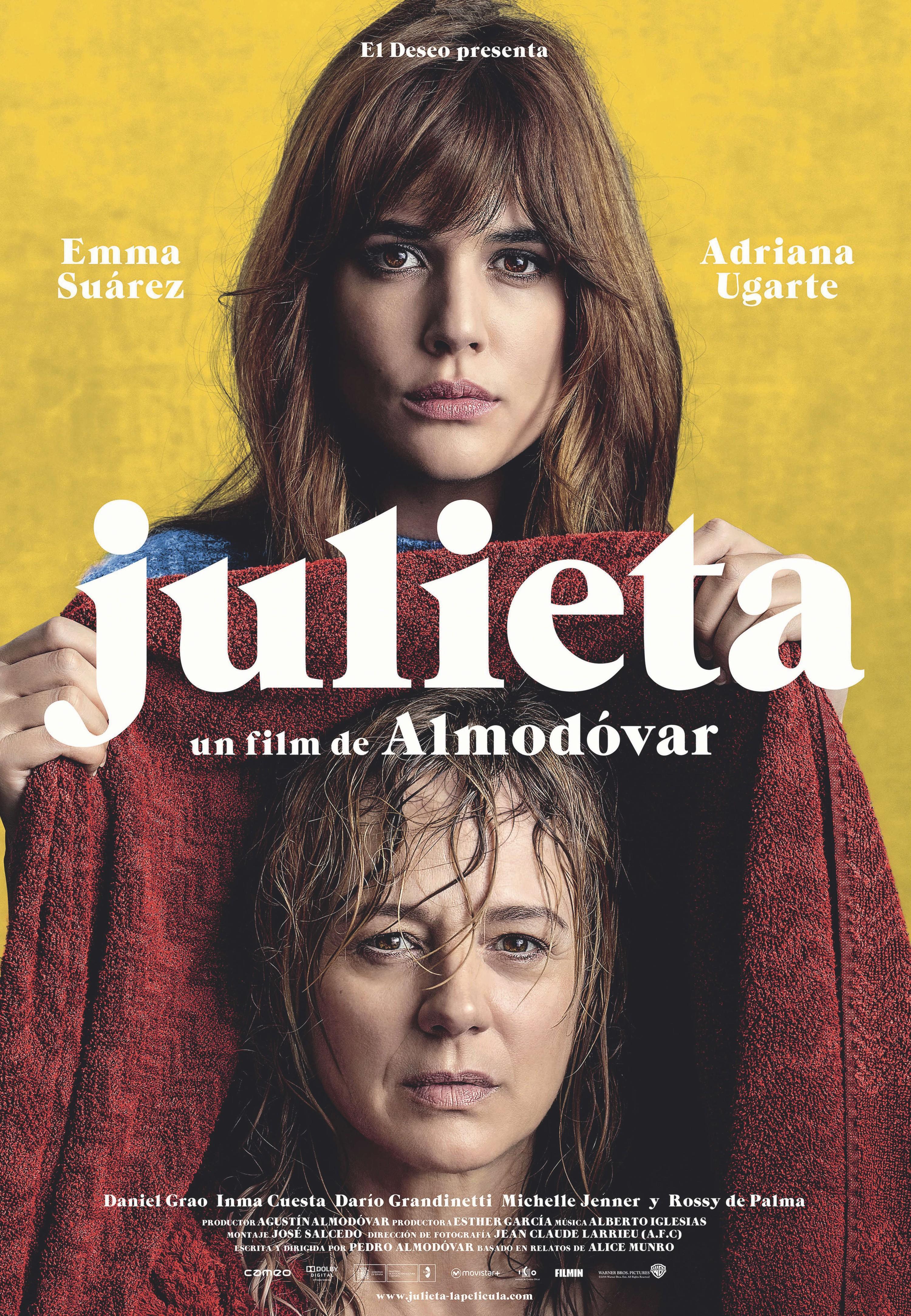 Cartel de Julieta, Pedro Almodóvar, 2016.