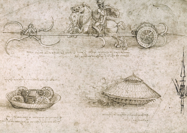 Léonard de Vinci, 1487, dessin, British Museum, Londres