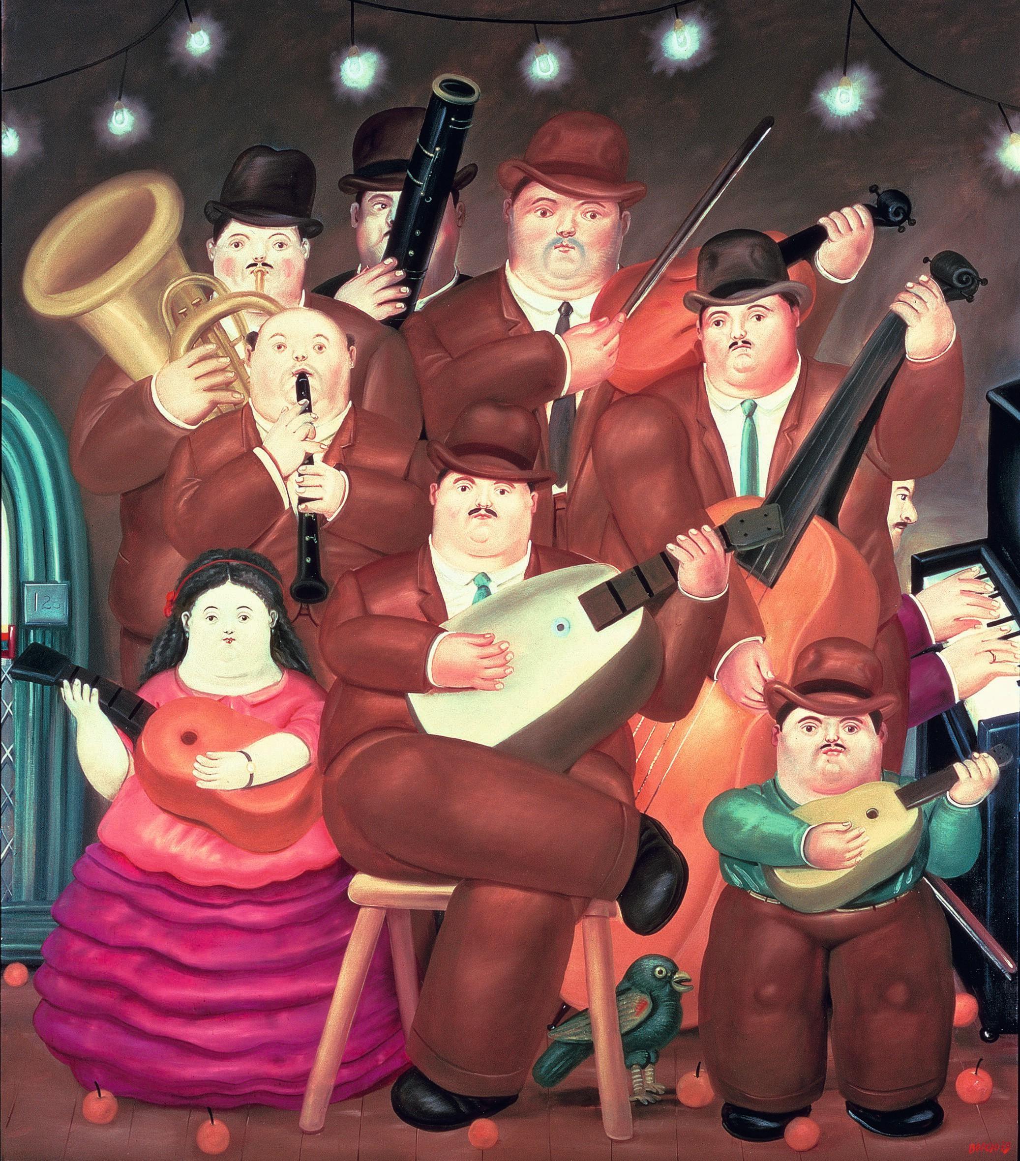 Fernando Botero, Los músicos, 1979.