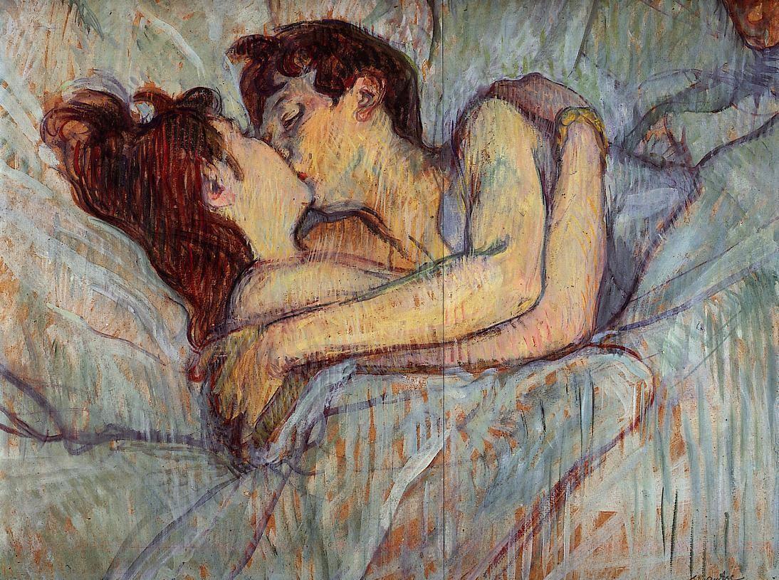 Henri de Toulouse-Lautrec, Dans le lit, le baiser, 1892, coll. privée.