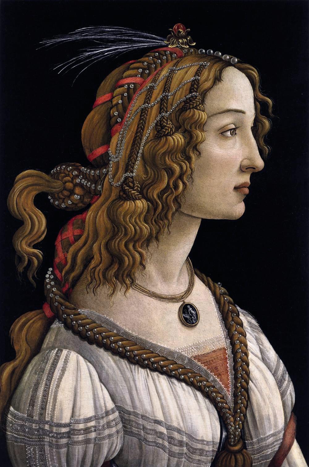 Sandro Botticelli, Portrait d'une jeune femme, entre 1480 et 1485