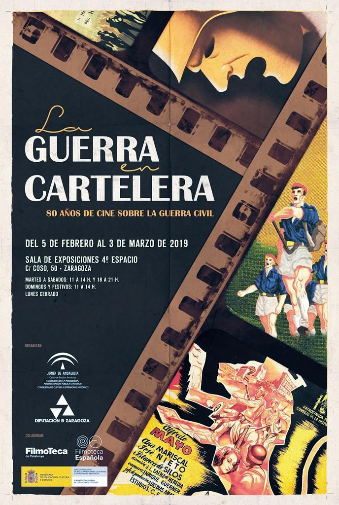 Fotografía de la exposición «La guerra en cartelera», Centro  de Estudios Andaluces y Filmoteca de Andalucía, 2017.