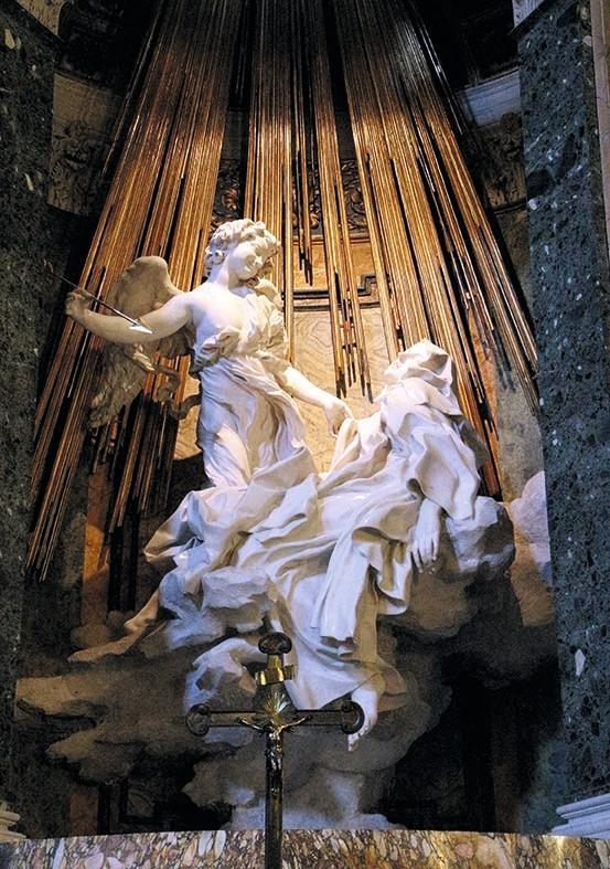 Le Bernin, L'Extase de Sainte Thérèse, 1652, marbre, Rome.