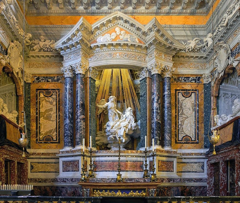 Chapelle Cornaro, église Santa Maria della Vittoria, Rome.