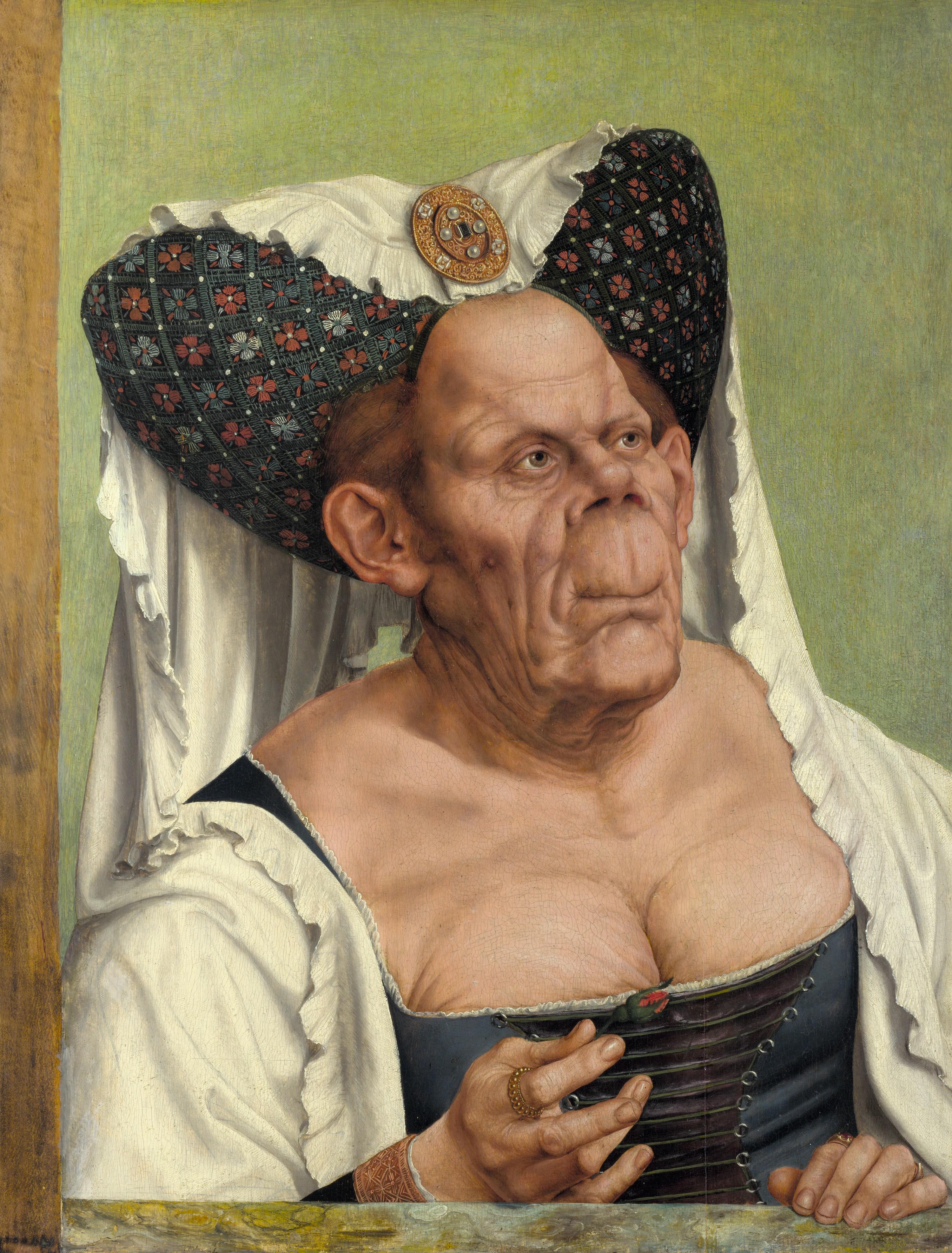Quentin Metsys, Vieille femme grotesque, vers 1513, huile sur panneau.