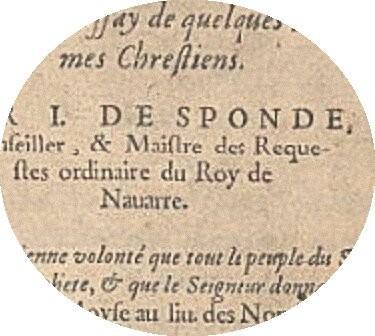 Manuscrit Jean de Sponde.