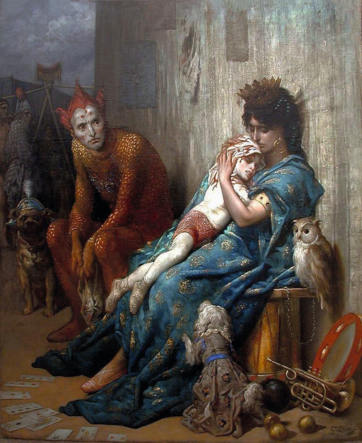 Gustave Doré, Les Saltimbanques, 1874, huile sur toile, musée d'art Roger Quilliot, Clermont-Ferrand.