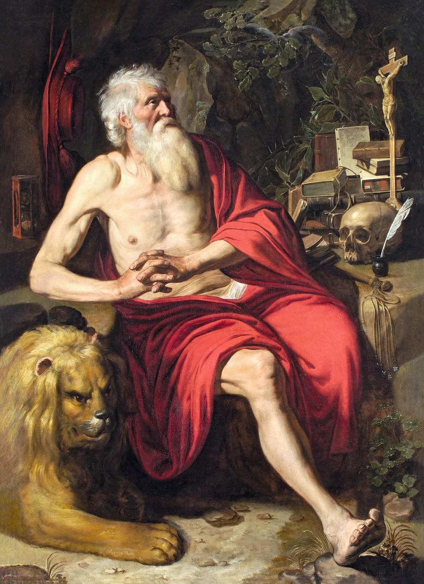 Artus Wolffort, Saint-Jérôme méditant, 1620, huile sur toile, musée des Beaux-Arts de Lyon.