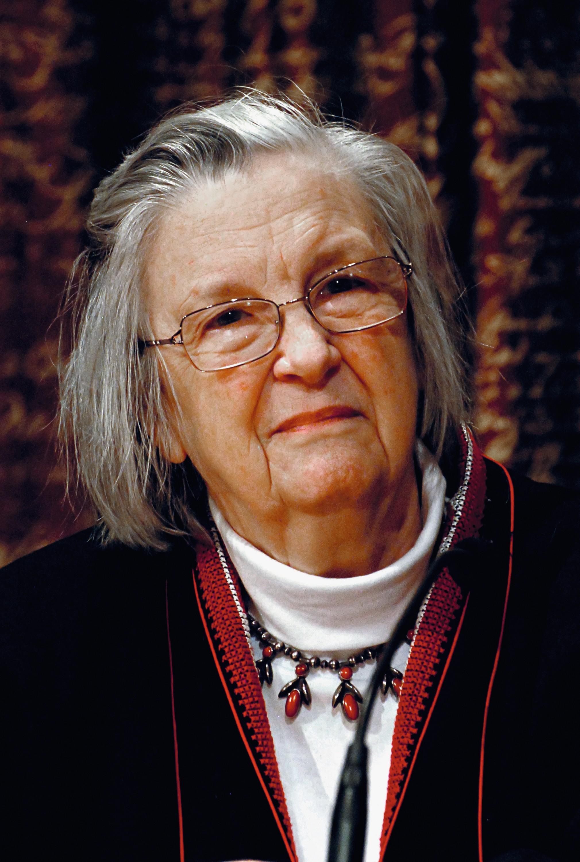 Elinor Ostrom, prix Nobel d'économie en 2009.