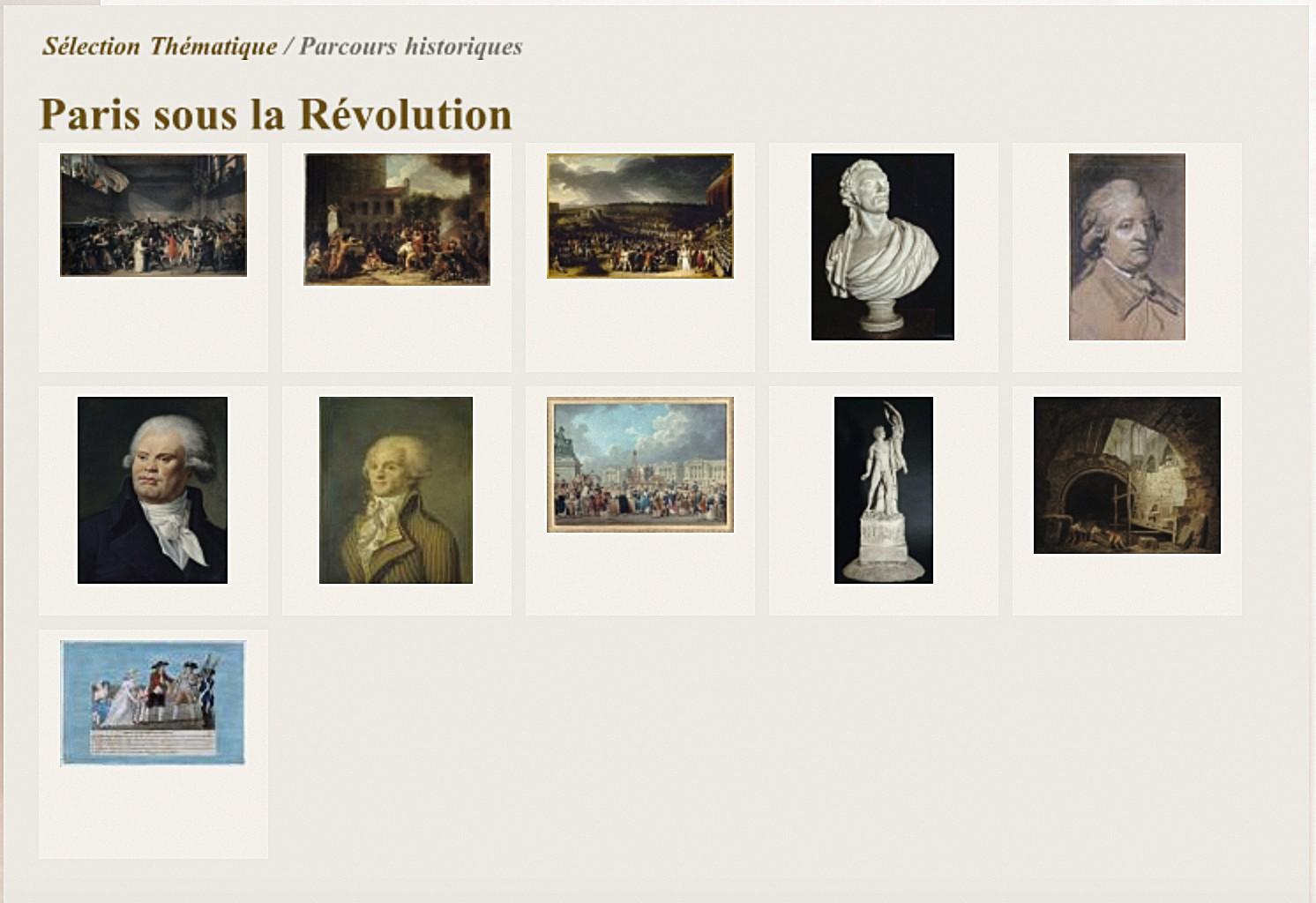 « Paris sous la Révolution », musée Carnavalet.
