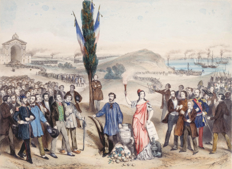Marie-Cécile Goldsmid et Frédéric Sorrieu, Le Suffrage universel, 1850, lithographie