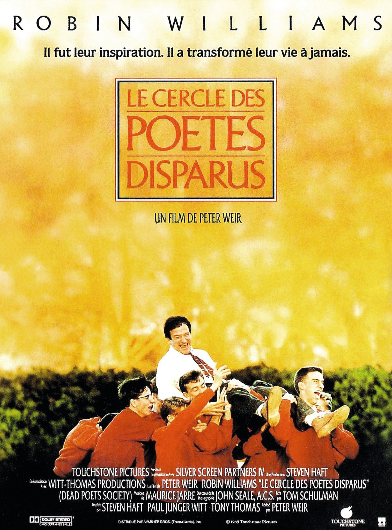 Le cercle des poètes disparus, Peter Weir, 1990.
