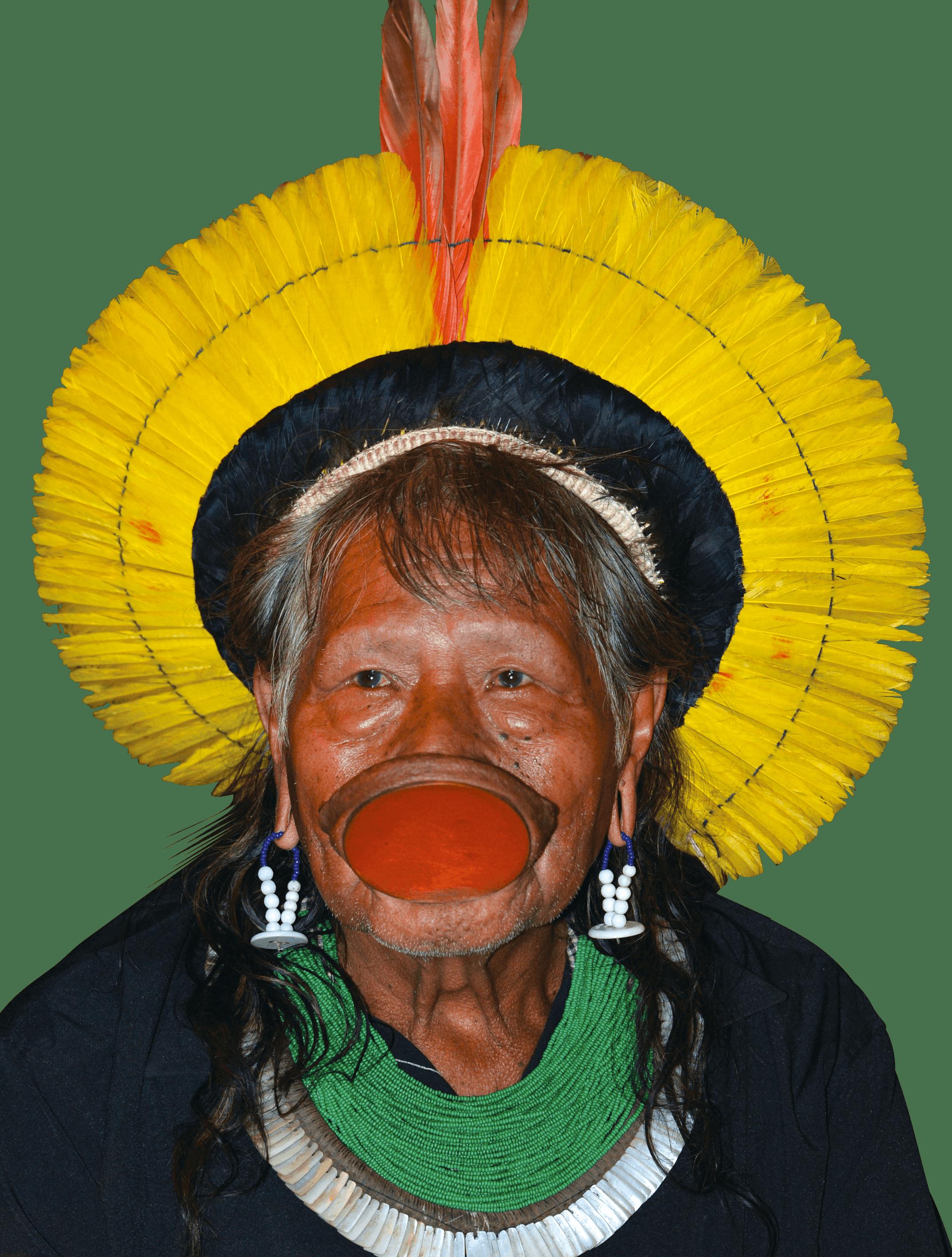 Raoni Metuktire, un chef de la tribu des Kayapos