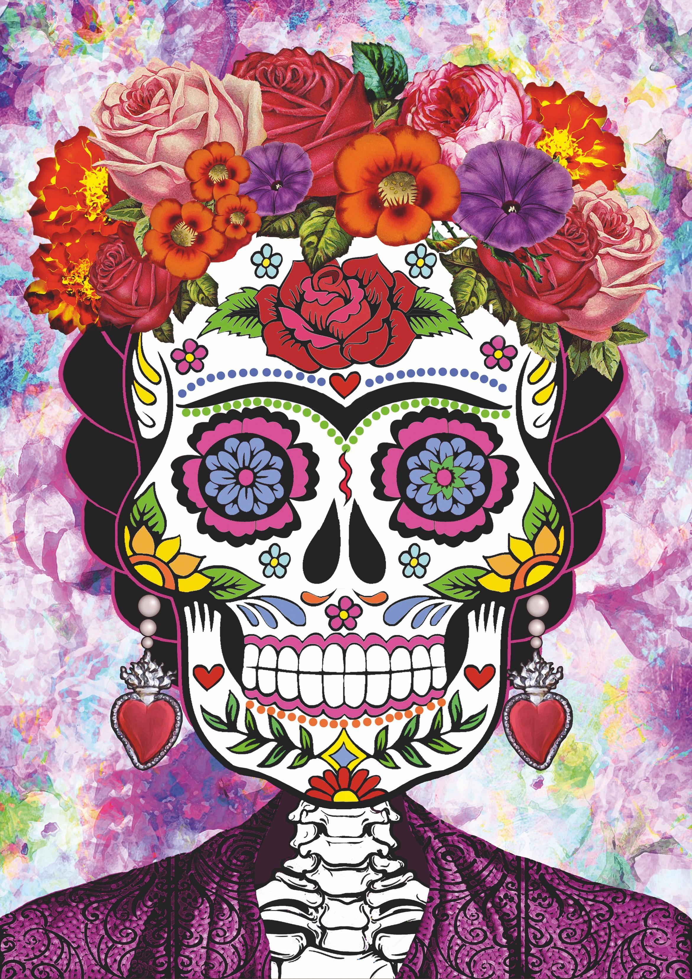 CorazonArdientee, Frida Kahlo en el día de los muertos, 2018.