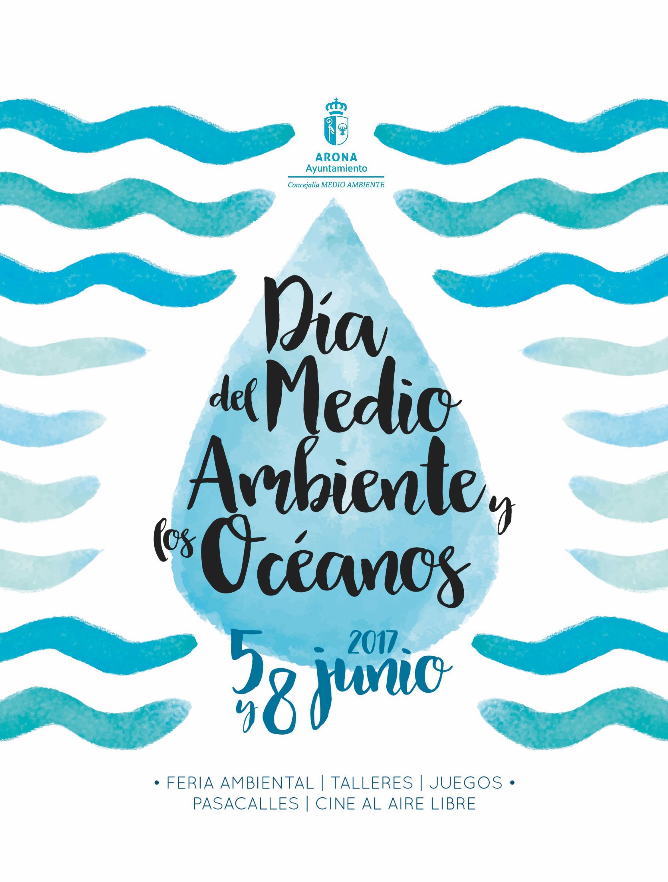 Cartel del Día del Medio Ambiente y los Océanos, 2017.
