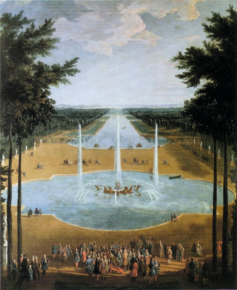 Pierre-Denis Martin, Vue du bassin d'Apollon et du Grand Canal de Versailles, 1713, huile sur toile