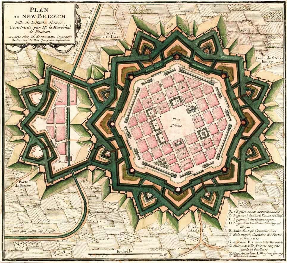 Vauban, Plan de Neuf-Brisach, v. 1697