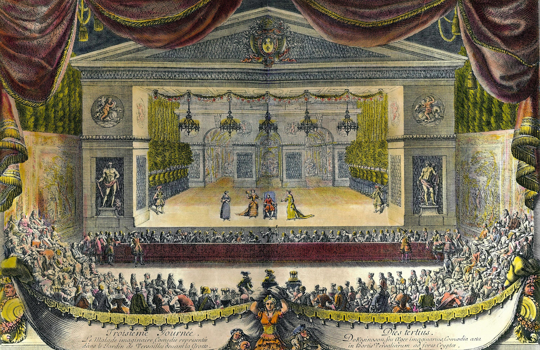 Jean Le Pautre, La Fête donnée par Louis XIV pour célébrer la reconquête de la Franche-Comté, 1676, gravure, 28 x 42 cm, château de Versailles