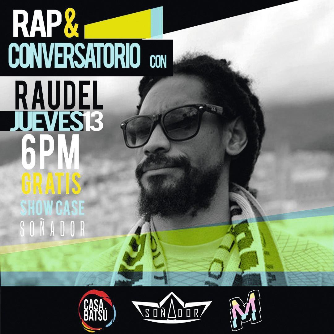 Cartel para un concierto del rapero Raudel en Costa Rica, 2018.