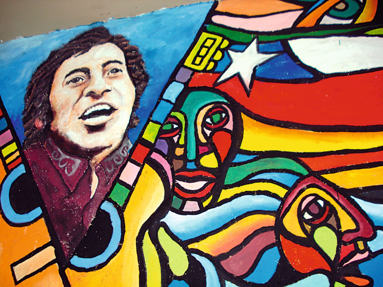 Mural a Víctor Jara, Barrio Brasil, Santiago, Chile, 2009