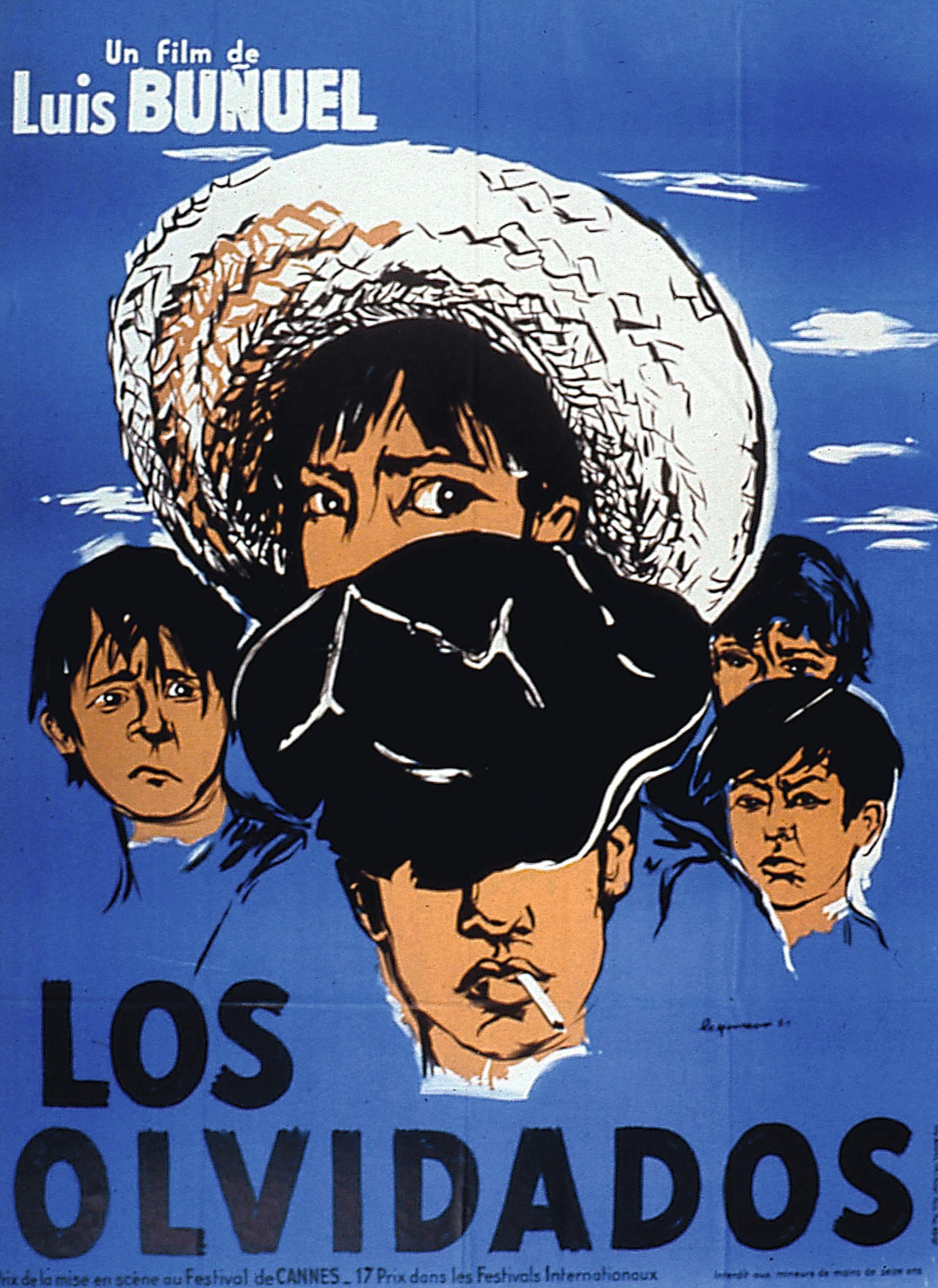 Cartel de Los olvidados, 1950.