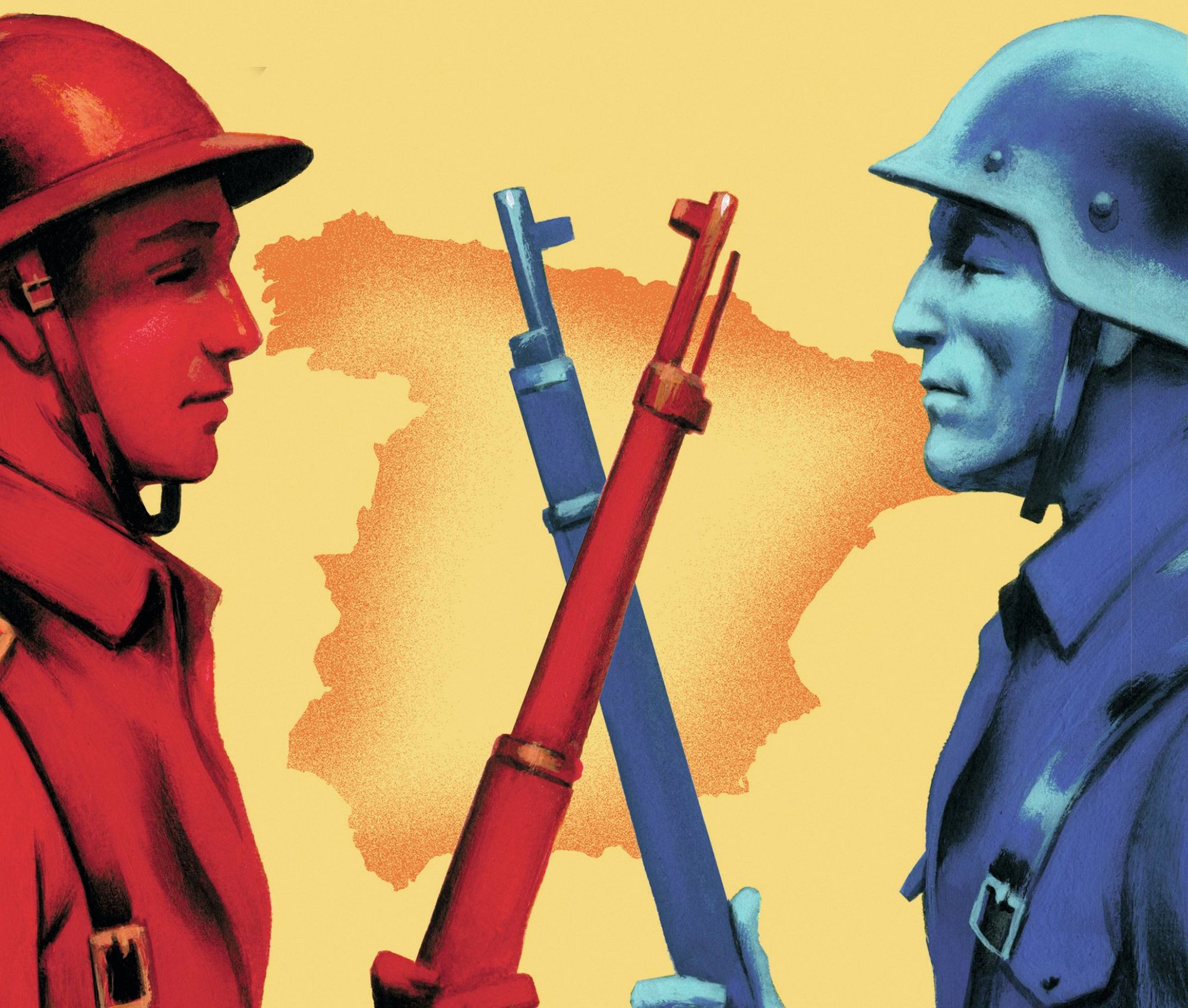 Fernando Vicente, ilustración del libro La Guerra Civil contada a los jóvenes
