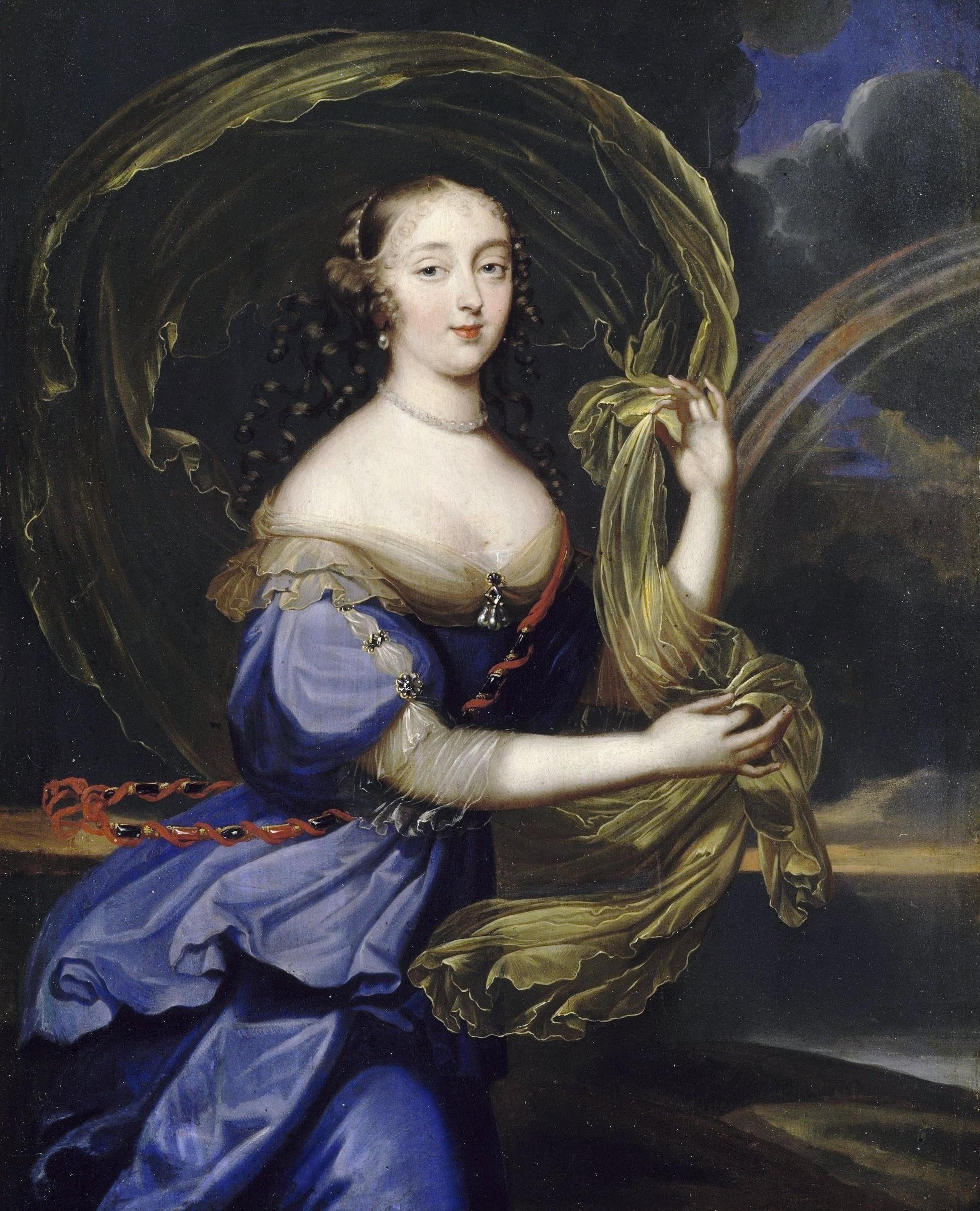 Anonyme, Françoise-Athénaïs de Rochechouart, marquise de Montespan représentée en Iris, 2e moitié du XVIIe siècle, huile sur cuivre, château de Versailles.