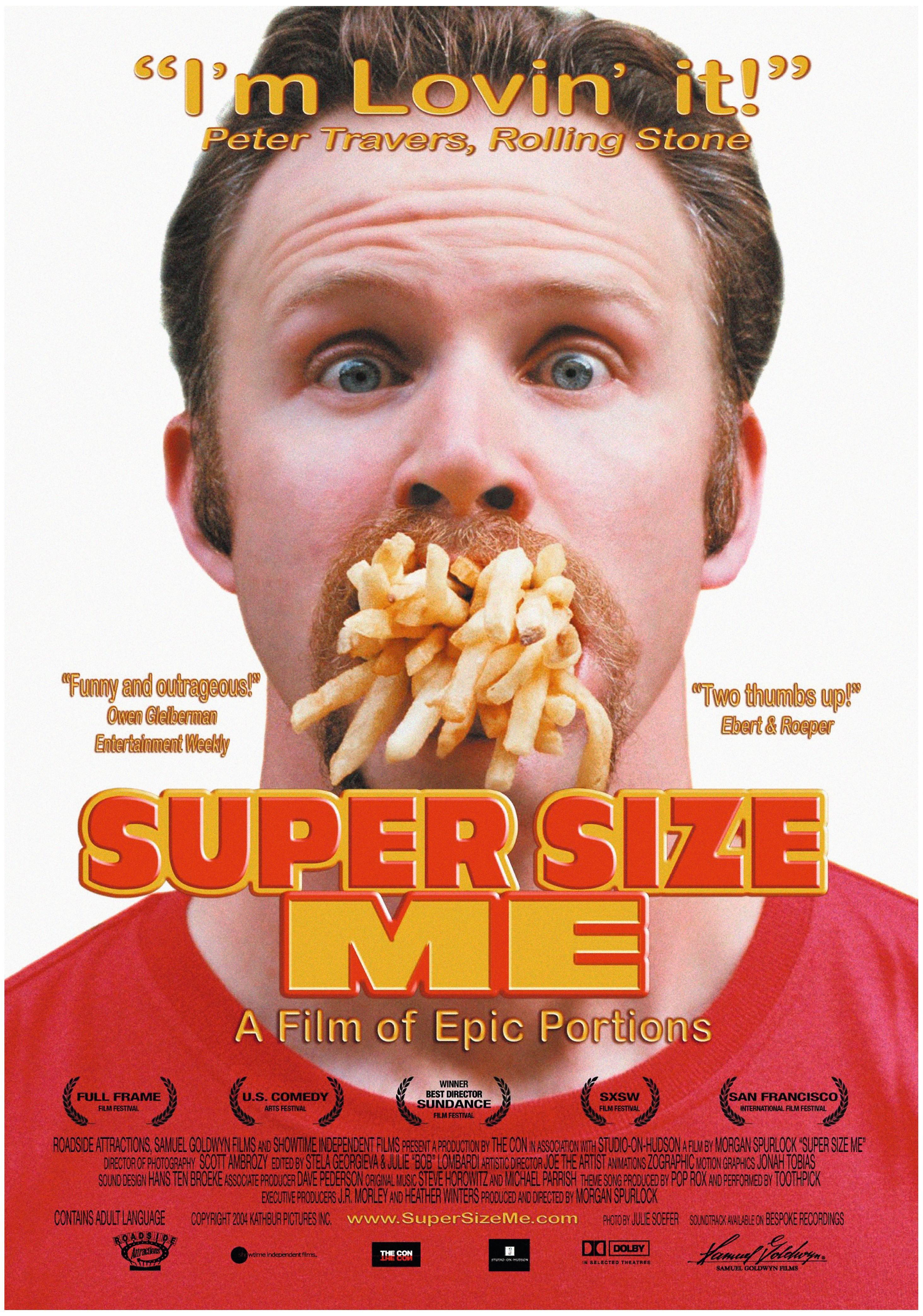 Les taxes peuvent chercher à rendre plus chers les produits les moins bons pour la santé. Le film Super Size Me, en 2004, a pointé du doigt les effets nocifs de la restauration rapide.