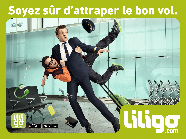 Publicité pour le comparateur de prix Liligo.com