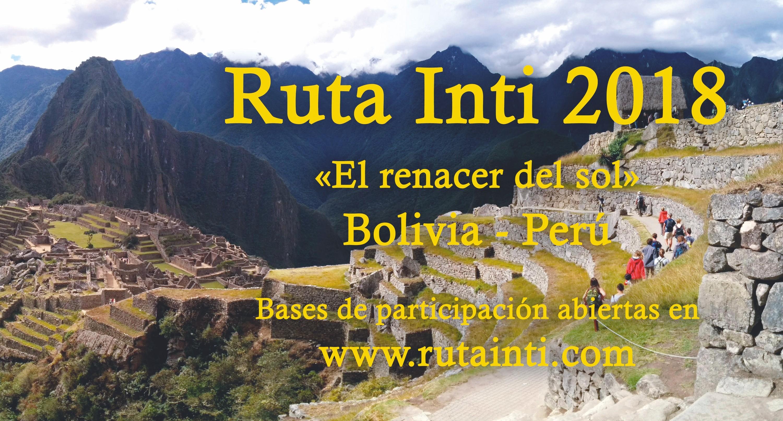 Cartel del programa cultural Ruta Inti, 2018.
