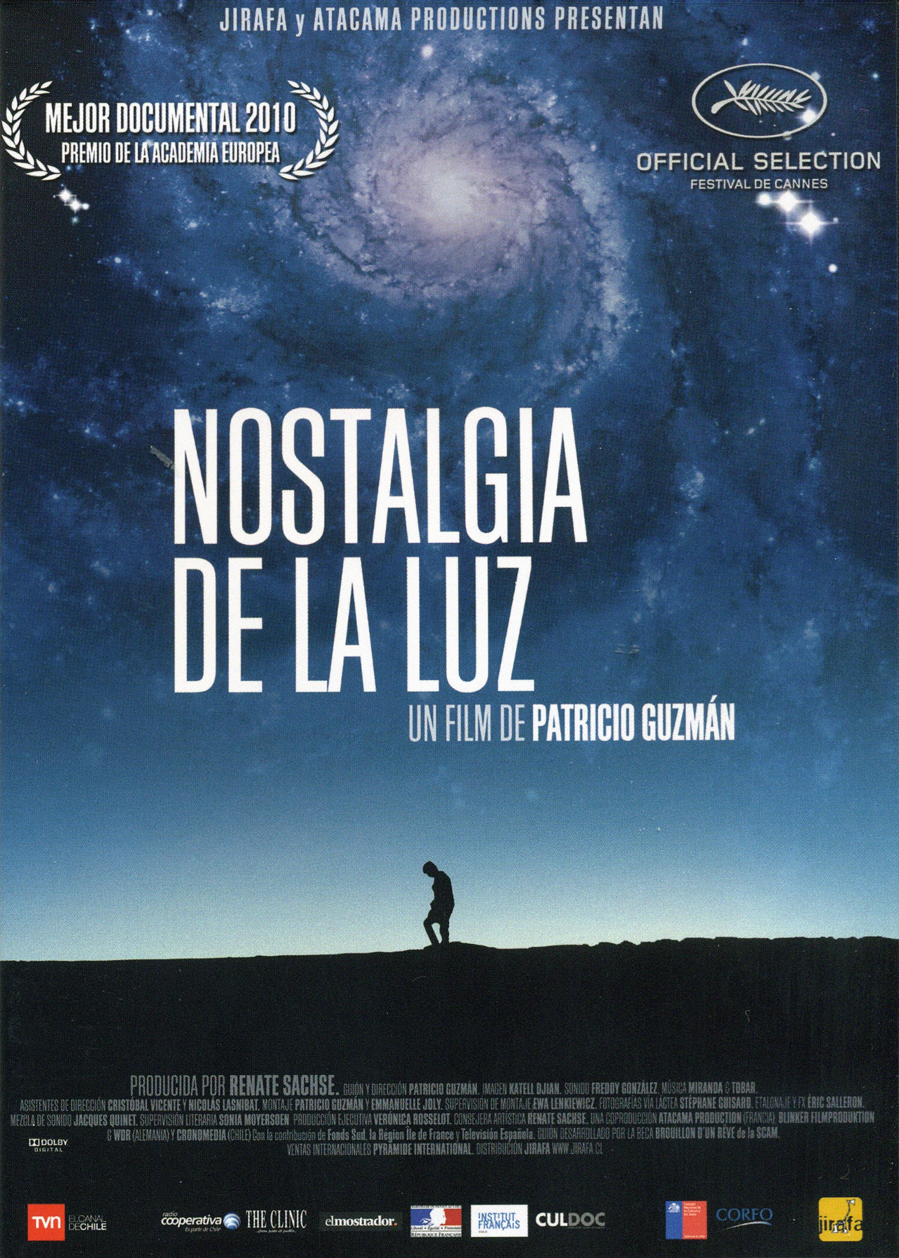 Cartel de Nostalgia de la luz, Patricio Guzmán, 2010.