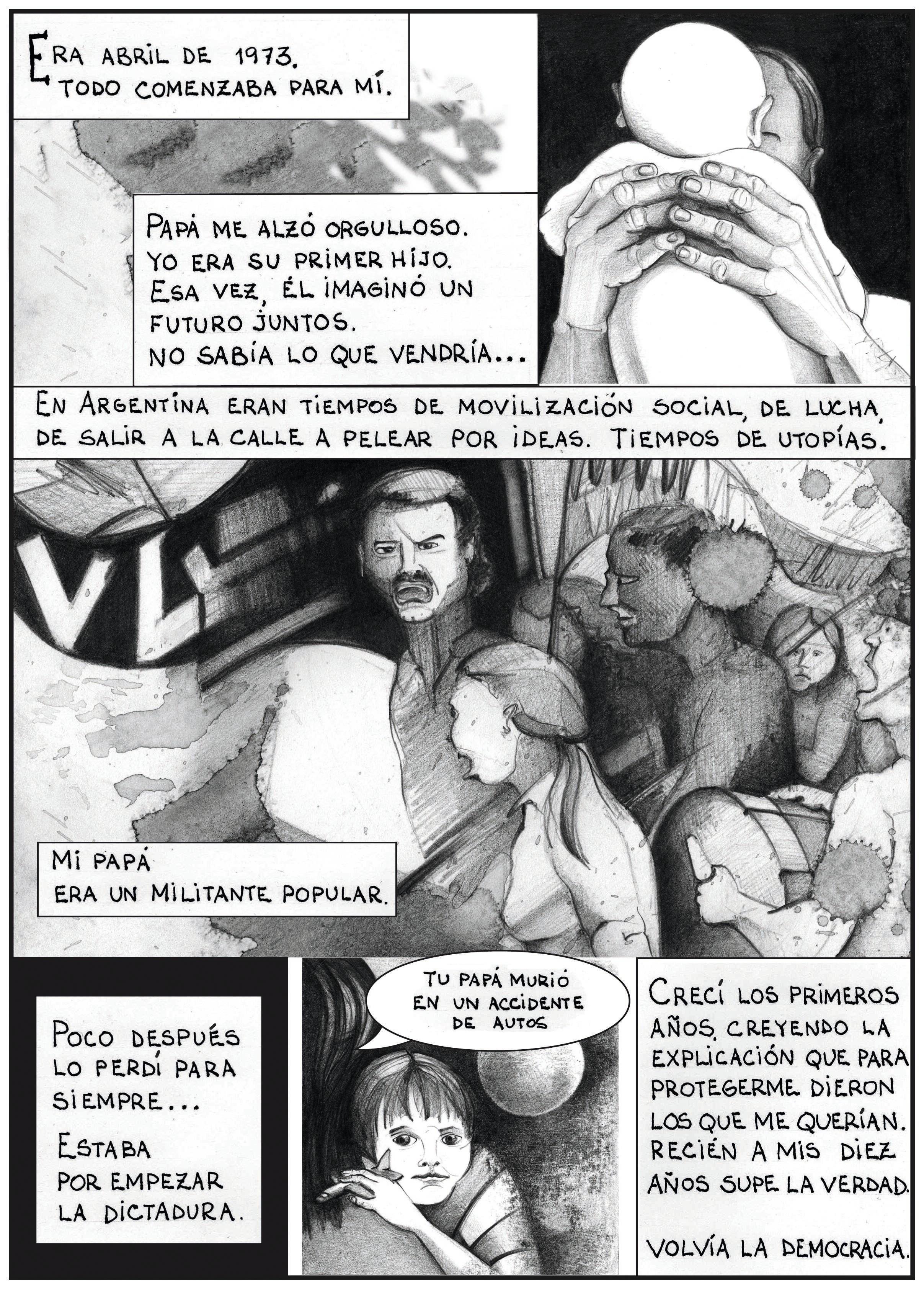 Marcelo Gómez, Historietas por la identidad 1