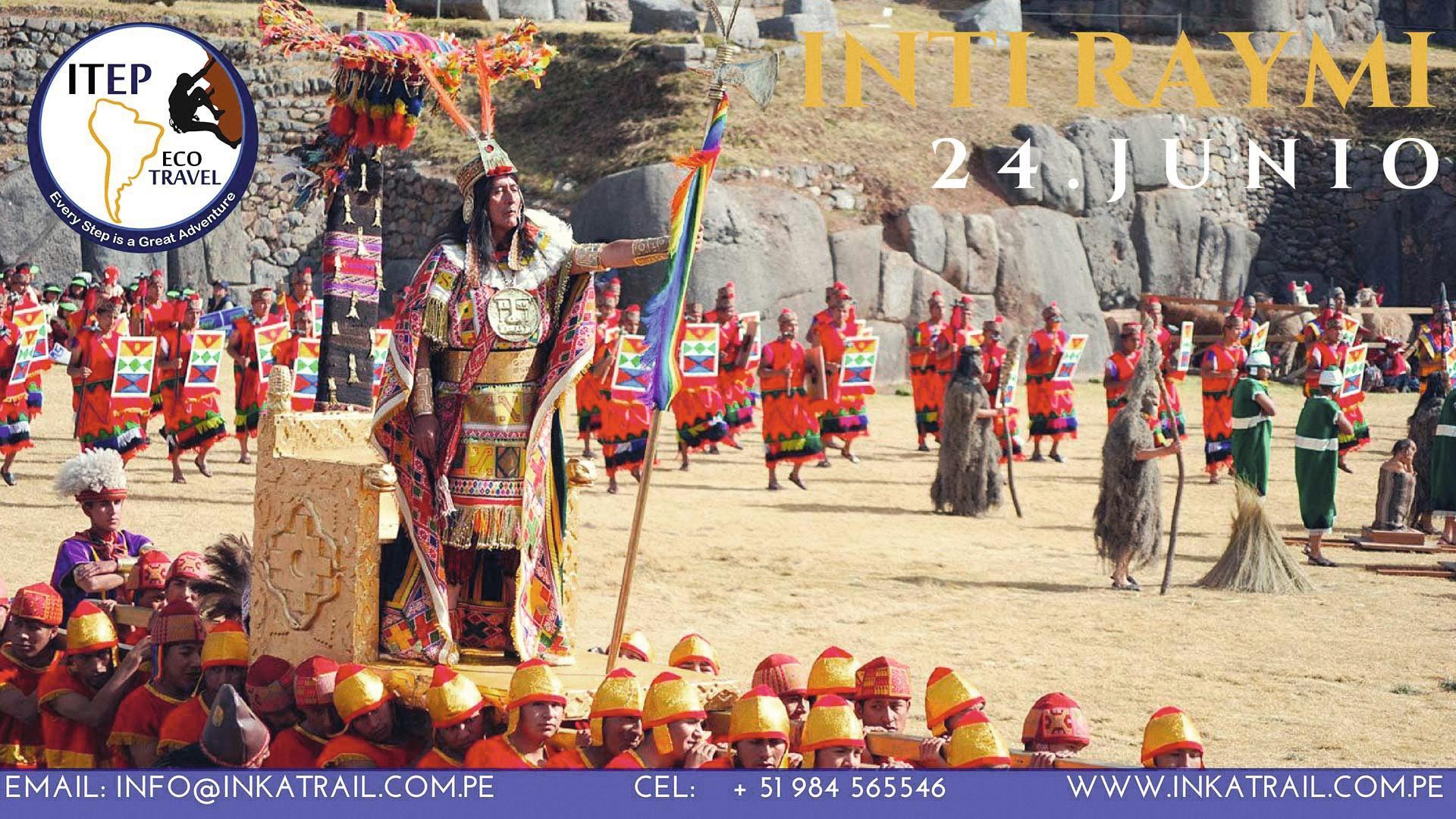 Cartel promocional Inkatrail, Inti Raymi, 2018.
