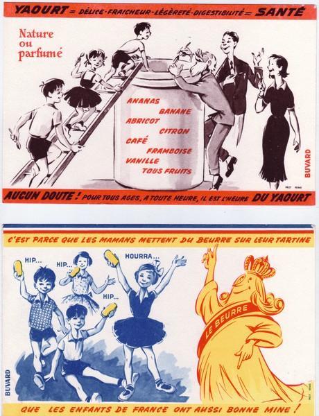 Publicité vantant les mérites des produits laitiers, vers 1950