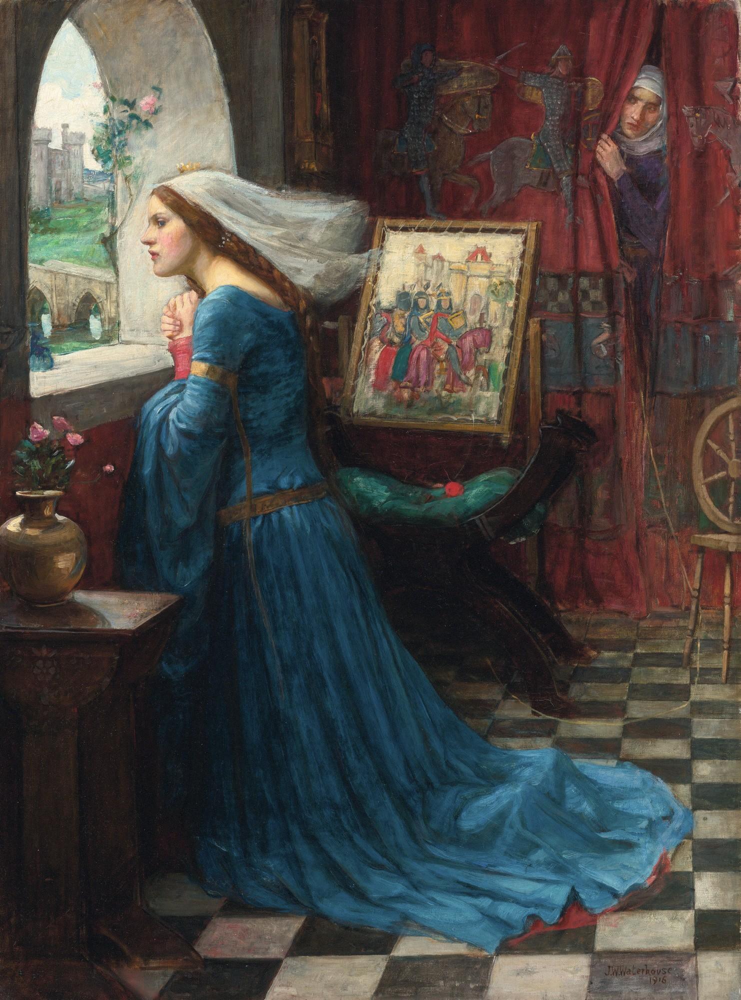 John Waterhouse, La Belle Rosemonde, huile sur toile, 1916, musée national du Pays de Galles.