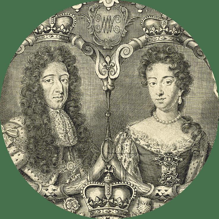 Guillaume III d'Orange (1650‑1702) et Marie II Stuart (1662‑1694)