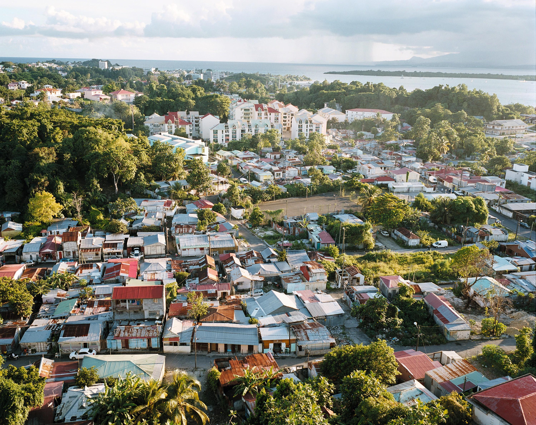 Pointe‑à‑Pitre (Guadeloupe), vue depuis la Tour Massabielle sur le quartier du Carénage